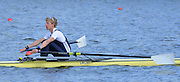 Reading. United Kingdom.  GBR LM1X, Mark ALDRED, in the opening strokes of the morning time trial. 2014 Senior GB Rowing Trails, Redgrave and Pinsent Rowing Lake. Caversham.<br /> <br /> 10:13:23  Saturday  19/04/2014<br /> <br />  [Mandatory Credit: Peter Spurrier/Intersport<br /> Images]