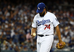 October 25, 2017 - Los Angeles, California, U.S. - Los Angeles Dodgers relief pitcher Kenley Jansen during game two of a World Series baseball game against the Houston Astros at Dodger Stadium on Wednesday, Oct. 25, 2017 in Los Angeles. Houston Astros won 7-6 in 10 innings. (Photo by Keith Birmingham, Pasadena Star-News/SCNG) (Credit Image: © San Gabriel Valley Tribune via ZUMA Wire)