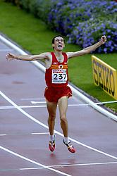 13-08-2006 ATLETIEK: EUROPEES KAMPIOENSSCHAP: GOTHENBURG <br /> Espana, Jesus SPA pakt het goud op de 5000 meter. <br /> ©2006-WWW.FOTOHOOGENDOORN.NL