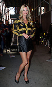 Sept. 10, 2014 - New York City, NY, United States - <br /> <br /> Nicky Hilton in short Skirt<br /> <br /> Nicky Hilton wears a super short leather mini skirt as she walks in the East Village on September 10 2014 in New York City<br /> ©Exclusivepix
