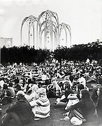 The first day of the festival that was to become Bumbershoot at Seattle Center. (Ron DeRosa / The Seattle Times, 1972)