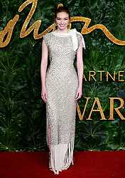Eleanor Tomlinson attending the Fashion Awards in association with Swarovski held at the Royal Albert Hall, Kensington Gore, London.