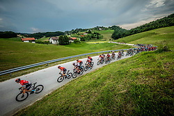 Jan TRATNIK of BAHRAIN VICTORIOUS leading the peloton during 1st Stage of 27th Tour of Slovenia 2021 cycling race between Ptuj and Rogaska Slatina (151,5 km), on June 9, 2021 in Slovenia. Photo by Vid Ponikvar / Sportida