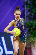 Salos Anastasiia during final at bal in Pesaro World Cup at Virtifrigo Arena on may 30, 2021. Anastasiia born on February 18 ,2002 in Barnaul. She is a rhythmic gymnast member of the Belarusian National Team.