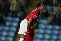Photo: Rich Eaton.<br /> <br /> Coventry City v Bristol City. The FA Cup. 16/01/2007. Scott Murray top and Enoch Showunmi bottom celebrate Showunmi's goal to make the score 2-0 to Bristol