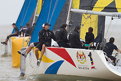 Adam Minoprio leads Francesco off the start during qualifying session 3 Monsoon Cup 2010. World Match Racing Tour, Kuala Terengganu, Malaysia. 3 December 2010. Photo: Subzero Images/WMRT