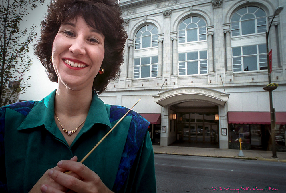 Diane Wittry, Music Director and Conductor of the Allentown Symphony Orchestra, and Music Director and Conductor of the Garden State Philharmonic in New Jersey poses in front of Symphony Hall, Allentown.<br /> - Photography by Donna Fisher<br /> - ©2020 - Donna Fisher Photography, LLC <br /> - donnafisherphoto.com