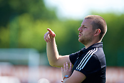 NEWPORT, WALES - Wednesday, July 25, 2018: South Coach Ben Hammond during the Welsh Football Trust Cymru Cup 2018 at Dragon Park. (Pic by Paul Greenwood/Propaganda)