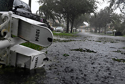 Strong winds and rain from Hurricane Irma downed trees, branches and mail boxes at Monarch Lakes in West Miramar around 3 p.m. Sunday afternoon, September 10, 2017. Photo by Taimy Alvarez/Sun Sentinel/TNS/ABACAPRESS.COM