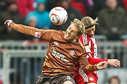 11.12.2010, Allianz Arena, Muenchen, GER, 1.FBL, FC Bayern Muenchen vs  FC St. Pauli, im Bild  Marius Ebbers (St. Pauli #9) im Kampf mit Anatoliy Tymoshchuk (Bayern #44) , EXPA Pictures © 2010, PhotoCredit: EXPA/ nph/  Straubmeier       ****** out ouf GER ******