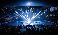 Berlin, Deutschland, 16.05.2015:<br /> Handball EHF Pokal Halbfinale Spiel 1 2014 / 2015 - Skjern Handbold - HSV Hamburg - EHF CUP Finals 2014/15.<br /> <br /> Eroeffnungsfeier *** Local Caption *** © pixathlon