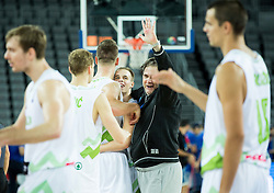 Klemen Prepelic of Slovenia celebrates after winning during basketball match between Slovenia vs Netherlands at Day 4 in Group C of FIBA Europe Eurobasket 2015, on September 8, 2015, in Arena Zagreb, Croatia. Photo by Vid Ponikvar / Sportida