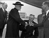 1959 - Cardinal Richard Cushing on Pilgrimage to Lourdes at Dublin Airport