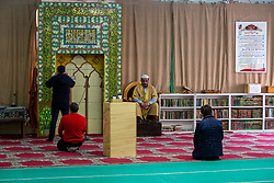 Coronavirus emergency phase 2, the ban on celebrating religious services does not apply only to the Catholic Church. Even in the House of Islamic culture in via Padova, in full Ramadan the imam is forced to hold the Friday sermon streaming in a practically empty mosque, Milan, Italy on May 1, 2020. Photo by Massimo Alberico/Fotogramma/IPA/ABACAPRESS.COM