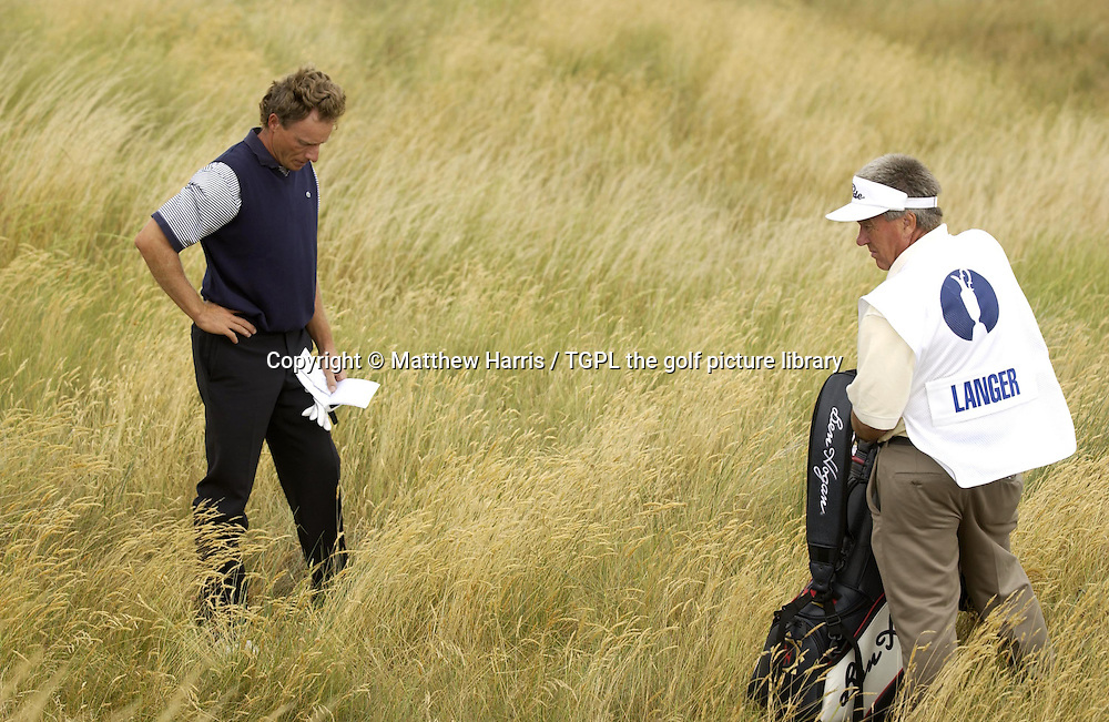 Bernhard LANGER (GER) during fourth round The Open Championship 2003,Royal St Georges,Sandwich,Kent,England.