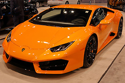 09 February 2017:  Lamborghini Huracan coupe<br /> <br /> First staged in 1901, the Chicago Auto Show is the largest auto show in North America and has been held more times than any other auto exposition on the continent.  It has been  presented by the Chicago Automobile Trade Association (CATA) since 1935.  It is held at McCormick Place, Chicago Illinois<br /> #CAS17