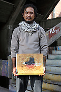 25 yr old Sajjad Hussain a student at the National college of art in lahore.