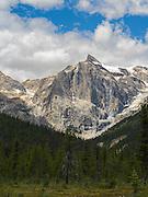 View of Emerald Peak, Yoho National Park, near Golden, British Columbia, Canada.