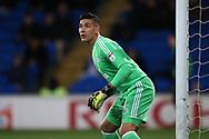 Neil Etheridge, the Cardiff city goalkeeper looks on. EFL Skybet championship match, Cardiff city v Preston North End at the Cardiff city stadium in Cardiff, South Wales on Friday 29th December 2017.<br /> pic by Andrew Orchard, Andrew Orchard sports photography.