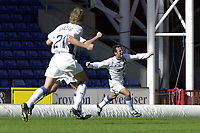 Photo: Greig Cowie.<br /> 13/09/2003.<br /> Nationwide League Division 1. Wimbledon v Wigan Athletic, Selhurst Park.<br /> Andy Liddell celebrates putting Wigan 2 up
