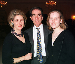 Left to right, the EARL & COUNTESS ALEXANDER OF TUNIS and their daughter <br /> LADY LUCY ALEXANDER, at a fashion show in London on 17th April 2000.OCY 40