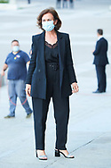 Carmen Calvo attend Covid-19 mass Funeral at La Almudena Cathedral on July 6, 2020 in Madrid, Spain