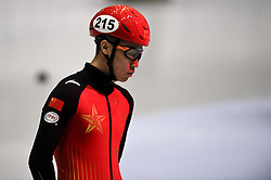 February 9, 2019 - Torino, Italia - Foto LaPresse/Nicolò Campo .9/02/2019 Torino (Italia) .Sport.ISU World Cup Short Track Torino - Men 500 meters Semifinals .Nella foto: Shuai Yang..Photo LaPresse/Nicolò Campo .February 9, 2019 Turin (Italy) .Sport.ISU World Cup Short Track Turin - Men 500 meters Semifinals.In the picture: Shuai Yang (Credit Image: © Nicolò Campo/Lapresse via ZUMA Press)