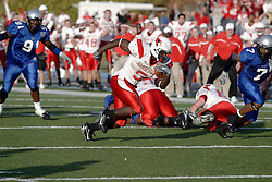 25 November 2006: Pierre Rembert gets room to run. &#xD;The Redbirds romped the Panthers by a score of 24-13.&#xD;This game was a 1st round NCAA Division 1 Playoff held at O'Brien Stadium on the campus of Eastern Illinois University in Charleston Illinois.<br />