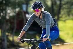 August 7, 2018 - VLDalen, SVERIGE - 180807 Stina Nilsson under ett trÅningspass pÅ' cykel under en presstrÅff den 7 Augusti 2018 i VÅ'lÅ'dalen  (Credit Image: © Johan Axelsson/Bildbyran via ZUMA Press)