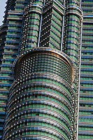 Close up images of the Petronas Twin Towers reveal the intricately designed features of this Kuala Lumpur icon.