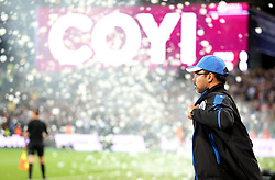 Huddersfield Town manager David Wagner walks out onto the pitch before the game