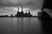 Black & White view of Battersea Power Station