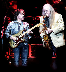 Hall and Oates Tour, Wednesday 1st May 2019<br /> <br /> Pictured: John Oates and saxophonist<br /> <br /> Aimee Todd | Edinburgh Elite media