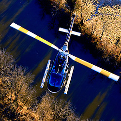 Aerial view of Jet Ranger Helicopter