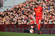 Steve McManaman of Liverpool legends team in action. Liverpool Legends  v Real Madrid Legends, Charity match for the LFC Foundation at the Anfield stadium in Liverpool, Merseyside on Saturday 25th March 2017.<br /> pic by Chris Stading, Andrew Orchard sports photography.