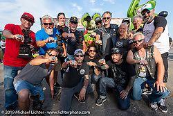 Top award winners at the Rats Hole annual custom bike show in the Crossroads area of the Buffalo Chip during the Sturgis Black Hills Motorcycle Rally. SD, USA. Thursday, August 8, 2019. Photography ©2019 Michael Lichter.