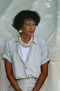 Candace Allen, the first African-American woman member of the Directors Guild of America, pictured at the Edinburgh International Book Festival, where she gave a reading from her debut novel about a black jazz female trumpeter of the 1920s. The book festival was a part of the Edinburgh International Festival, the largest annual arts festival in the world.