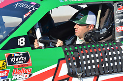 November 10, 2018 - Phoenix, Arizona, U.S. - PHOENIX, AZ - NOVEMBER 10:  Xfinity Series playoff contender Elliot Sadler (1) Hunt Brothers Pizza Chevrolet head down pit lane after completing qualifying session at the NASCAR Xfinity Series Playoff Race - Whelen 200  on November 10, 2018 at ISM Raceway in Phoenix, AZ.  (Photo by Lyle Setter/Icon Sportswire) (Credit Image: © Lyle Setter/Icon SMI via ZUMA Press)