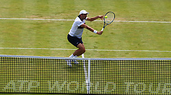 June 20, 2017 - London, United Kingdom - Julien Benneteau  (FRA) against James Ward  (GBR)  during Round One match on the second day of the ATP Aegon Championships at the Queen's Club in west London on June 20, 2017  (Credit Image: © Kieran Galvin/NurPhoto via ZUMA Press)