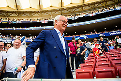 June 2, 2019 - Madrid, Spain - 190602 Claudio Ranieri in the stands prior to the UEFA Champions League final between Tottenham and Liverpool on June 2, 2019 in Madrid..Photo: Petter Arvidson / BILDBYRÃ…N / kod PA / 92302 (Credit Image: © Petter Arvidson/Bildbyran via ZUMA Press)