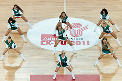 Cheerleaders Dragon Ladies at friendly match between Slovenia and Croatia for Adecco Cup 2011 as part of exhibition games before European Championship Lithuania on August 8, 2011, in SRC Stozice, Ljubljana, Slovenia. (Photo by Matic Klansek Velej / Sportida)