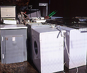 Recycling of white domestic appliances