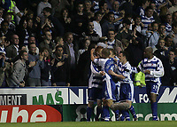 Photo: Lee Earle.<br /> Reading v Newcastle United. The Barclays Premiership. 30/04/2007.Reading's Dave Kitson is congratulated after scoring their opening goal.