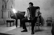 "Mario playing his final exam at the conservatory ""Jana Deyla"". 1996"