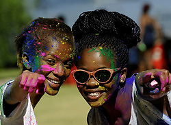 JOHANNESBURG, Oct. 14, 2013  People take part in the Spring Bash colour festival held at Dries Niemandt Park in Johannesburg, South Africa, Oct. 13, 2013. (Credit Image: © Xinhua via ZUMA Wire)