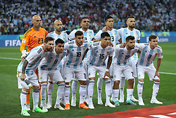 NIZHNY NOVGOROD, June 21, 2018  Players of Argentina pose for a group photo prior to the 2018 FIFA World Cup Group D match between Argentina and Croatia in Nizhny Novgorod, Russia, June 21, 2018. (Credit Image: © Wu Zhuang/Xinhua via ZUMA Wire)