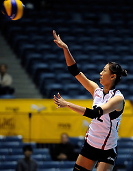 07-11-2010 VOLLEYBAL: WORLD CHAMPIONSHIP: PERU - KOREA: TOKYO<br /> Korea beat Peru with 3-1 / Song-Yi Han<br /> ©2010-WWW.FOTOHOOGENDOORN.NL