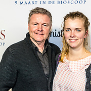 NLD/Amsterdam//20170307 - Premiere HIdden Figures, Rene Mioch en dochter Lisa Mioch