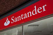 Sign for the Bank Santander.