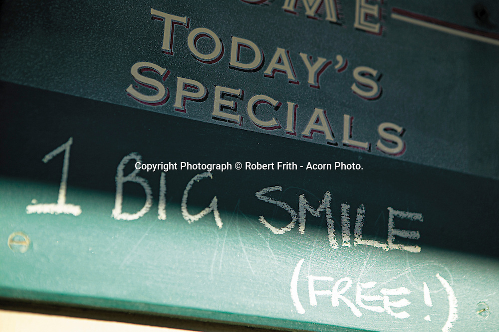 """Café chalkboard - """"Today's Special - 1 Big Smile (Free!)"""""""